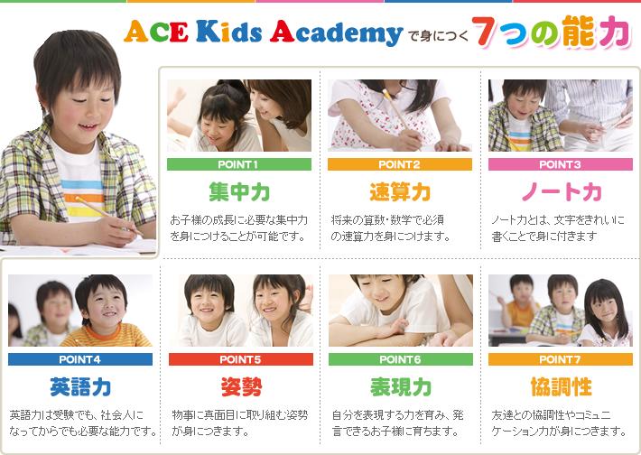 ACE Kids Academyで身につく7つの能力